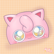 Load image into Gallery viewer, happy purin peeker  [SPARKLE]