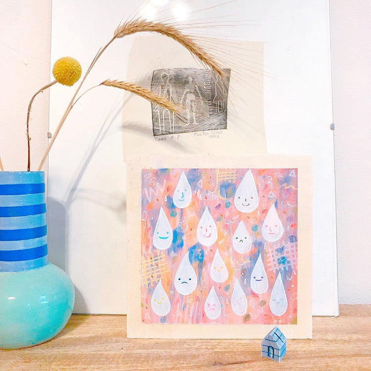 mini happy drops /  original painting /