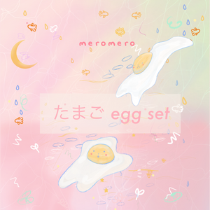 たまご egg sticker set [ SPARKLE ]