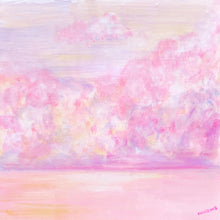 Load image into Gallery viewer, Rêver de ciel rose /  original painting /