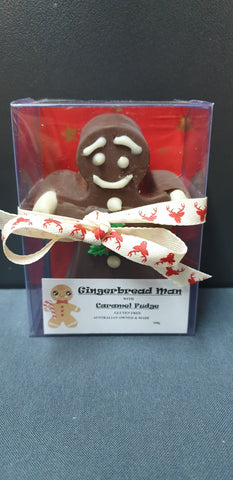 Chocolate Ginger Bread Man Fudge (Gift Box) GF