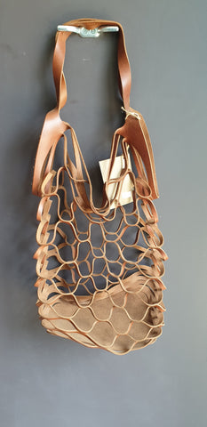 Leather Mesh Tote