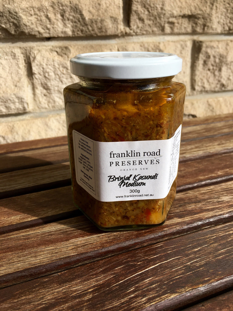 Franklin Road Preserves Brinjal Kasundi Medium 300g