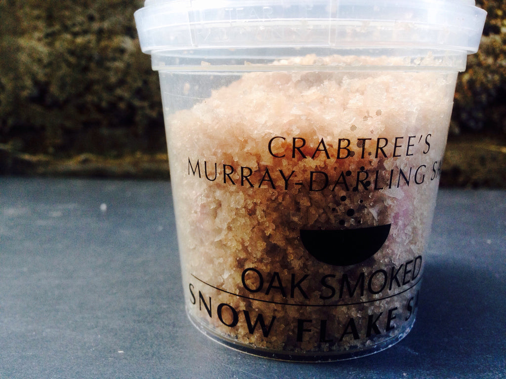 Smoked Murray Darling River Salt infused with Balsamic Vinegar