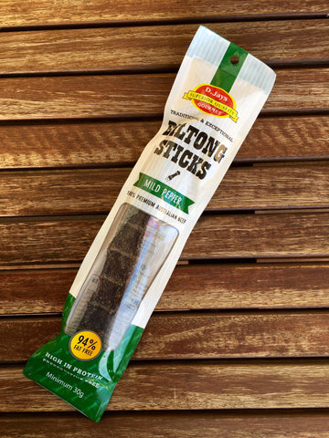 D.Jays Biltong Dry Sticks Pepper 30g