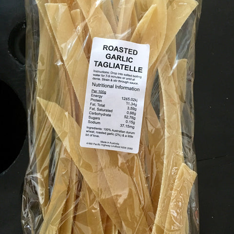 Roasted Garlic Tagliatelle Pasta