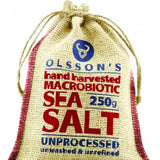 Olsson's Macrobiotic Sea Salt Hessian Pouch 250g