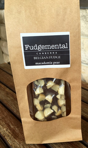 Fudgemental Macadamia Pear Belgian Fudge 200g