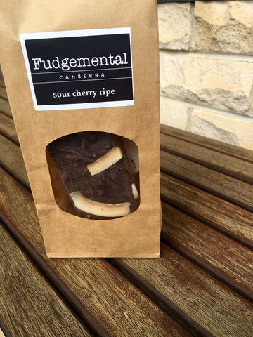 Fudgemental Sour Cherry Ripe Premium Fudge 200g