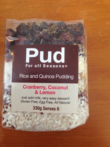 PUD Cranberry, Coconut & Lemon Rice Pud 330g
