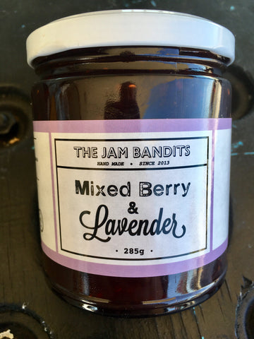 Jam Bandits Mixed Berry & Lavender 285g