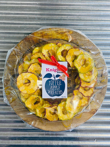 The magnificent Toffee Apple Wreath 150g on Cheese Board