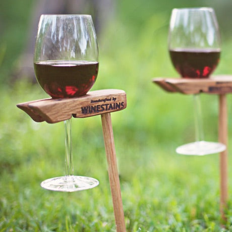 Winestain's Picnic Stand for your Glasses