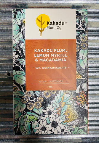 Kakadu Plum, Lemon Myrtle & Macadamia 63% Dark Chocolate
