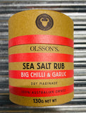 Olsson's Sea Salt Rubs - Big Chilli and Garlic 160g