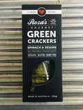 Roza's Gourmet Green Spinach & Sesame Crackers 120g