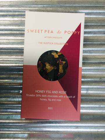 SweetPea&Poppy Honey Fig and Rose Rustica Artisan Bar 80g