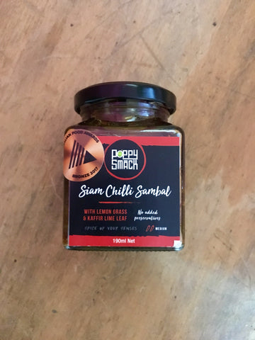 PoppySmack Siam Chilli Sambal (190ml)