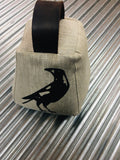 Gatbi Linen Door Stop. Swooping Magpies UNFILLED