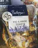 Phillippa's Fig & Anise Toasts 100g