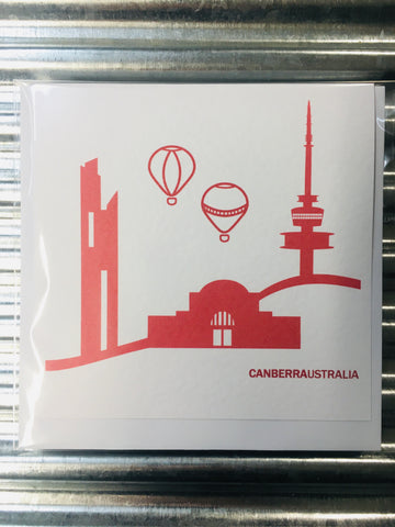 Canberra Skyline Card RED
