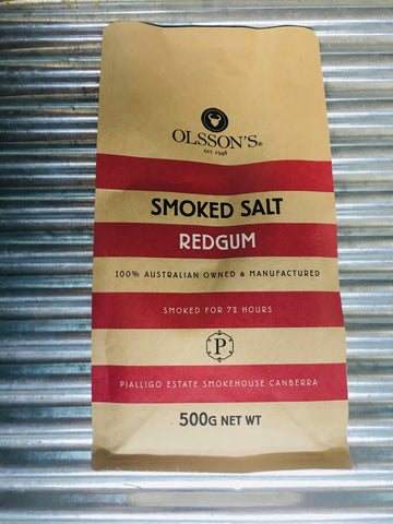 Refill PLUS Viking Redgum Smoked, at Pialligo Estate, Sea Salt from Olsson's 500g