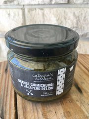 Latasha's Orange Chimichurri Jalapeno Relish