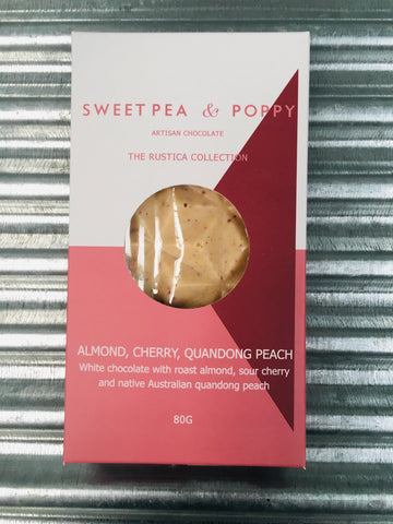 SweetPea&Poppy Almond, Cherry & Quandong Rustica Artisan Bar 80g