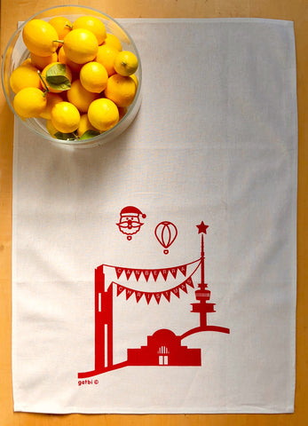 Gatbi Icons Christmas Tea Towel