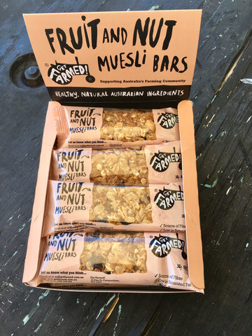 Get Farmed Muesli Bars counter display 12 Units