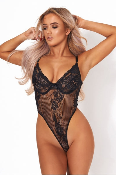 Lola Stripped Bodysuit - KAPSULE
