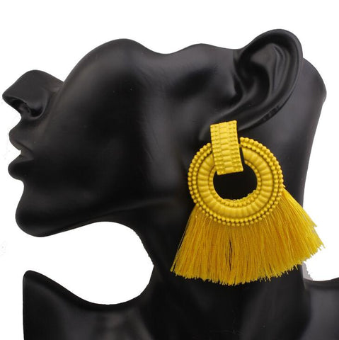 Tassel Fringed Earrings