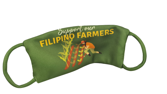 "Cloth Mask - ""Support your Filipino Farmers"