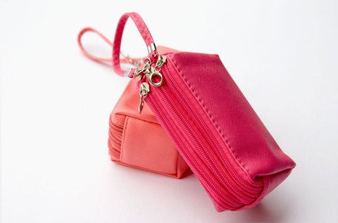Sandra Triple-Zipper Wristlet