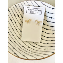 Load image into Gallery viewer, Gold Bow Stud Earrings