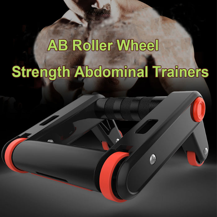 AB Roller Wheel Push up Bars Core Strength Abdominal Trainers