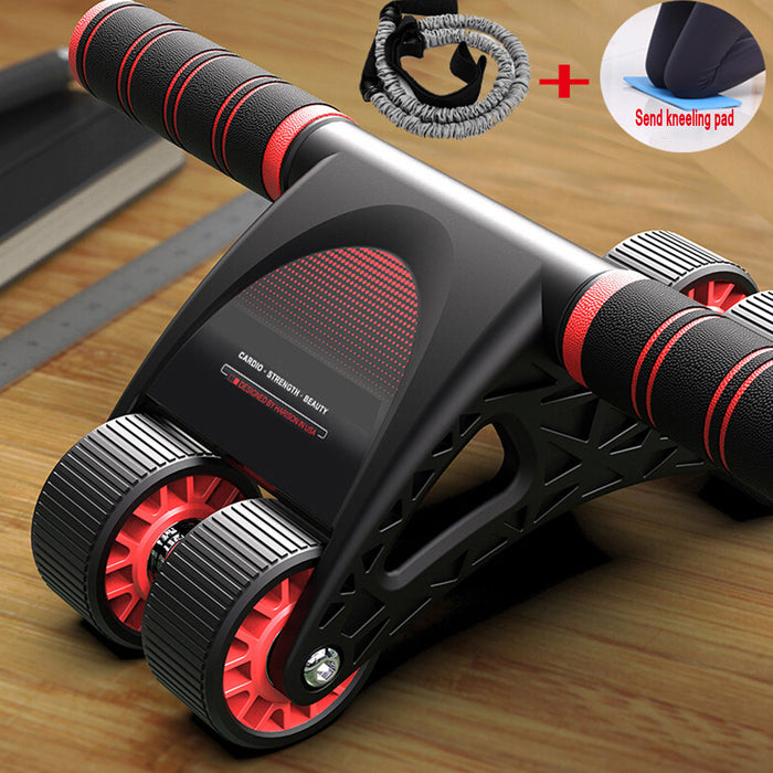 Abdominal Muscle Wheel,AB Wheel Roller with 4 Wheels,with Resistance Bands and Mat