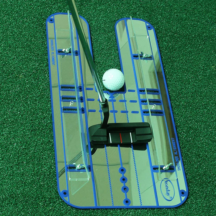 Portable Swing Training Aids Practice Putting Mirror Alignment Trainer for Golf Practice