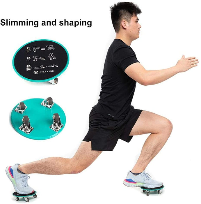 Set of 2 Core Sliders Abdominal Exercise Equipment with Roller Wheel Muscle Training Equipment