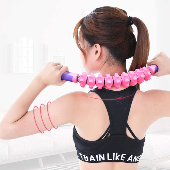 Muscle Roller Stick Massager Soft Flexible Massage Stick Muscle Roller Deep Tissue Yoga Muscle Massager Stick