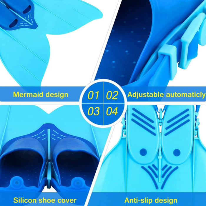 Mermaid Fin For Swimming Suitable For Children