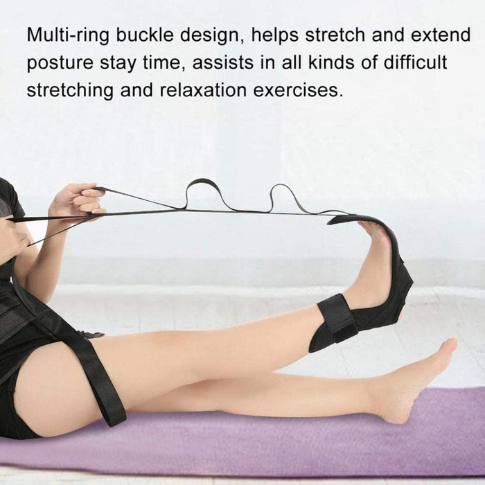Yoga Resistance Fitness Stretch Belt AuxiliaryWorkouts Stretching Assisted Pull Straps Ankle Ligament Stretcher