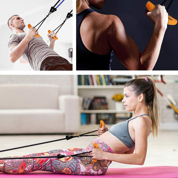 Pull-up Handle Grips Resistance Band Weight Lifting Training Grip Strength Sling Trainer