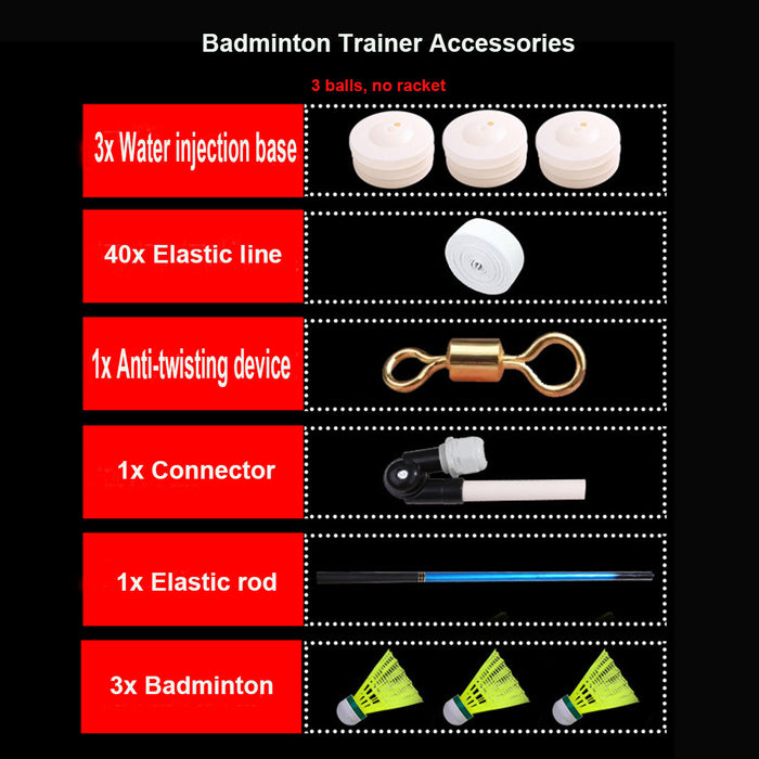 Portable Badminton Accessories Single-Player Automatic Rebound Sparring Device