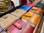 Soft fly case made of genuine handcrafted leather