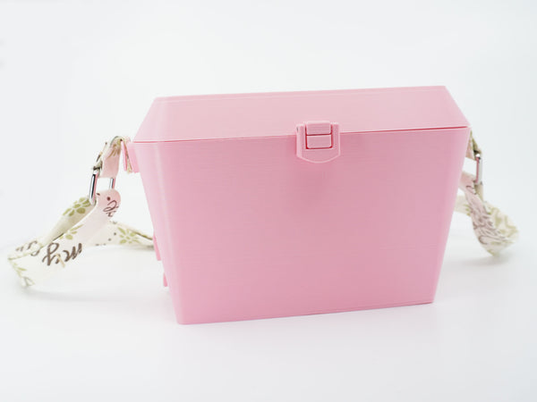 Sturdy Diamond Purse With Lots of Compartments - Pastel Pink