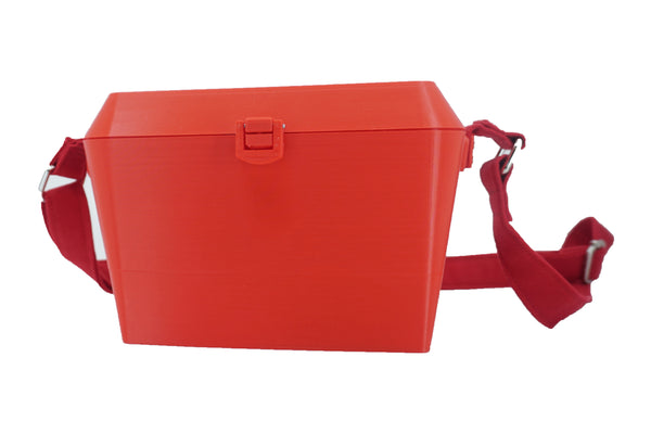 Sturdy Diamond Shaped Purse With Lots of Compartments - Red