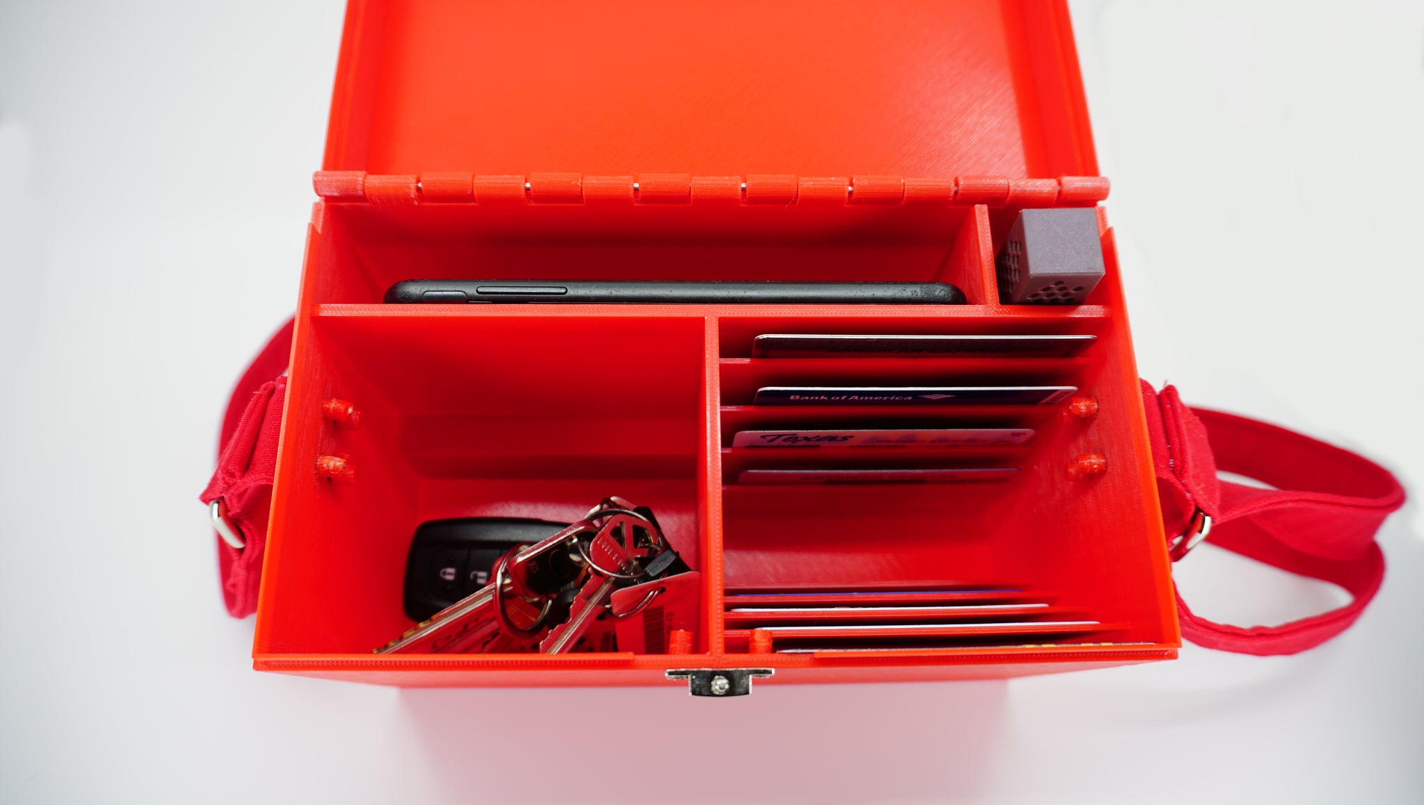 Red Purse With Sturdy Compartments - Built in Wallet and Organizer - Lots of Pockets - Unique & Unusual - Miss Utility