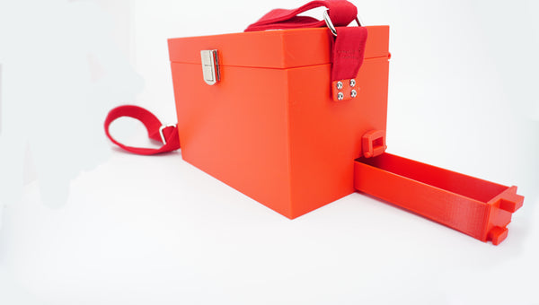 3D Printed Red Purse - Lots of Pockets - Miss Utility