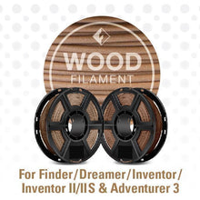 Load image into Gallery viewer, FlashForge D-Series Wood Filament 1.75 MM 3D-FFG-DWOODL